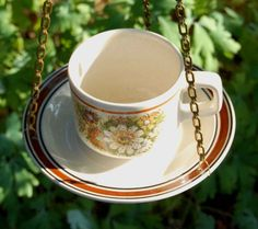 cup and saucer bed feeder