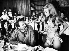 Raquel Welch on a break during the filming of One Million Years B.C. (1966). She looks AMAZING!