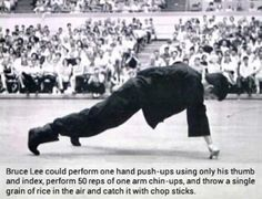 Crazy fact about Bruce Lee!