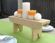 Vintage inspired footstool makes a great home decor accent or centerpiece - uses Mod Podge and wallpaper.