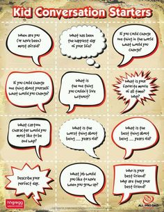 Conversation starters- cute idea to add variety to the friendship circle at troop meetings