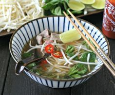 Quick Beef Pho with added Greens. Perfect, fun way to feed a crowd! #paleo