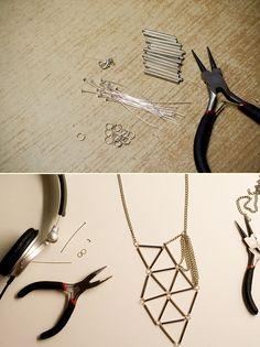 DIY: geometric necklace