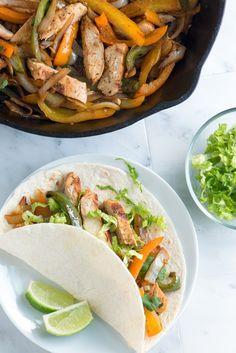 Easy Chicken Fajitas Recipe- Excellent crazy good marinade!