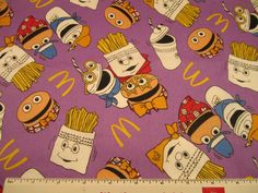 Ronald McDonald Fabric by TheSewNSewShop on Etsy, $2.50