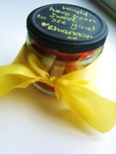 Chalk Paint Jar Lids (quickie craft)