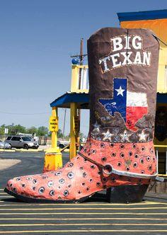 Big Texan. Amarillo, Texas.