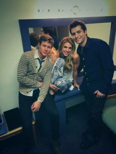 Guy Wilson, Kate Mansi, and Freddie Smith