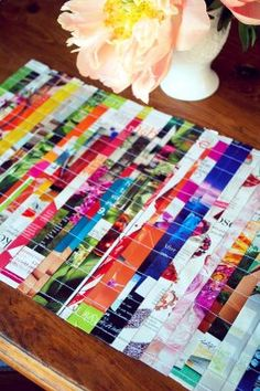 Magazine pages placemat - so colorful!