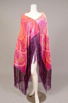 Art Deco Velvet Shawl