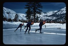 The 1960 Winter Games at Squaw Valley was the first artificially refrigerated ice surface.