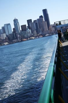 Ferry between Seattle and Bainbridge Island. <3 Best day ever. I want to go back so badly.