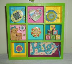 Dollar store shadow box craft