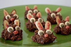 Easter bunny no bake cookies