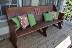 Church Pew to Front Porch Bench