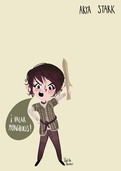 "Arya Stark ""Game of Thrones Girls Tribute"" by Pedrita Parker #gameofthrones #juegodetronos"