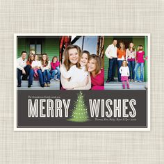 Christmas Card Holiday Photo Card by Inkwell Design Studio