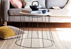 Love this idea: lampshade wire as a small table. (In your back pocket)