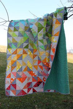 Modern Rainbow Quilt