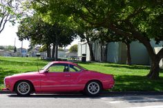 Pink Karman Ghia—Wow. Is this the sales reward for the Hipster Mary Kay lady?