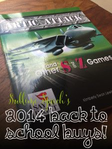 Enter to win Artic Attack and other S & Z Games and Artic Attack and other R Games from the amazing Activity Tailor! Head to the blog: http://sublimespeech.com/2014/09/back-to-school-buys-artic-attack.html