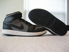 Boys Toddler Nike Air Jordan Phat Black/ Gray Leather Shoes Size 11c