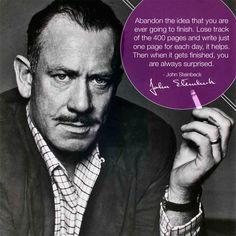 Steinbeck on writing