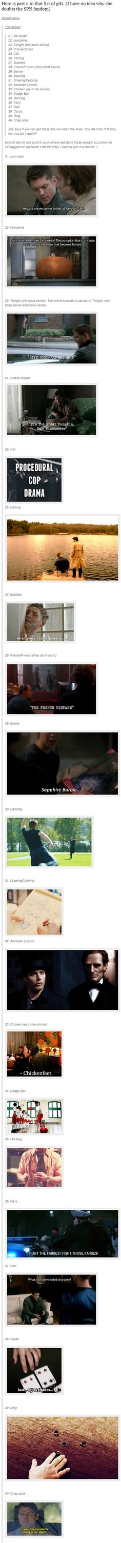 (gif set) GIF for Everything ||| Supernatural [Good job, fandom!]