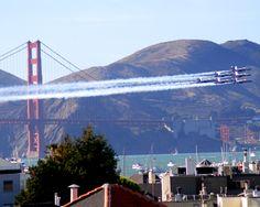 Golden Gate Bridge and Blue Angels -- Fleet Week SF