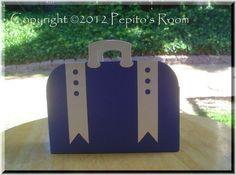 Vintage Suitcase Single Favor  Open Version  PR by PepitosRoom, $3.50