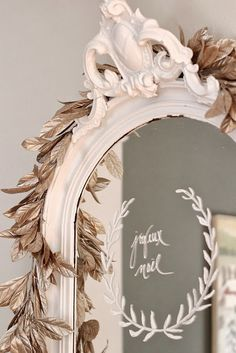 Writing on the mirror....