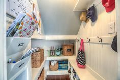 under stairs mudroom