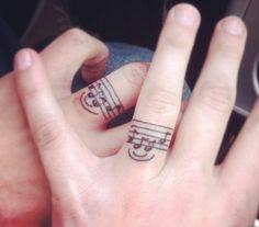 Music tattoo!!! #music #tattoo #engagement #ring
