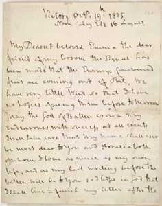 """""""Lord Nelson's last letter to Lady Hamilton, 19th Oct 1805. Found on his desk in his cabin on H.M.S. Victory after his death at the Battle of Trafalgar."""""""