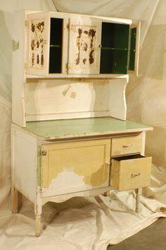 Hoosier Cabinet Restoration decor, cabinet restor, hoosier cabinet, antiqu furnitur, retro kitchen
