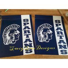 Valley View Spartan garden flags - $22.00 each