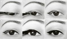 // 60s cat eye tutorials