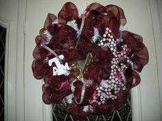 Cute Aggie game day wreath!