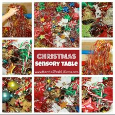 Christmas sensory table ideas