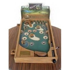 Old Century Pinball Golf Wood Wooden Table Top Pinball Machine (Game)