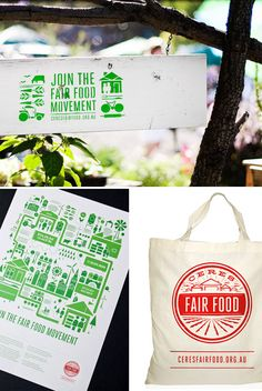 Identity, branding and campaign design for Ceres Fair Food by SouthSouthWest