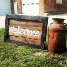 Pallet Sign - Welcome