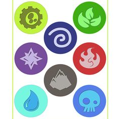 INSTANT DOWNLOAD Skylanders Element Icons - ( 3 inch) - for Balloon ,Stickers, Lollipop, Favor bags, Cups - Printable Files via Etsy