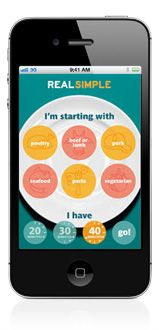 "Real Simple Apps | Real Simple ""No Time To Cook"""