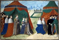 Another illustration of the marriage of Isabelle and Richard II in 1396,XV th c.