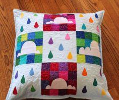 Cloud Song Floor Pillow. Patchwork pillow!  Love!