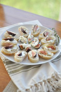 Recipe File: Whipped Goat Cheese + Fig Crostini