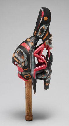 Raven Rattle [Skidegate, British Columbia; Haida] (89.4.611) | Heilbrunn Timeline of Art History | The Metropolitan Museum of Art