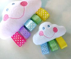 sewing toys, sew baby toys, clouds, cloud taggie toys, cloud comfort, babi toy, cloud babi