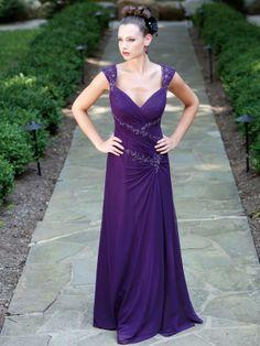 Sweetheart A-line chiffon bridesmaid dress